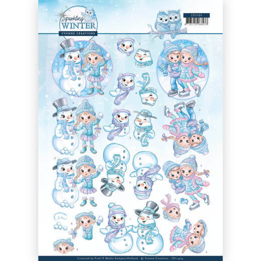 Knipvel Yvonne Creations - Sparkling Winter CD11404