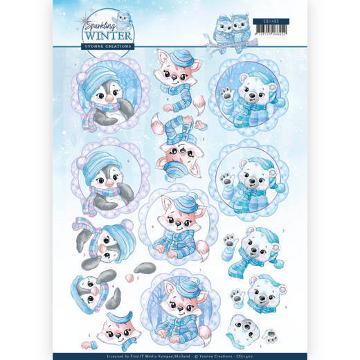 Knipvel Yvonne Creations - Sparkling Winter CD11402