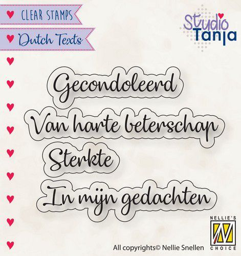 Clearstamps Nellie Snellen - Dutch Texts - gecondoleerd