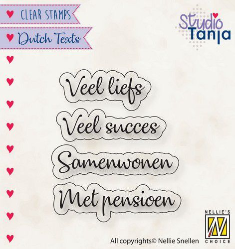Clearstamps Nellie Snellen - Dutch Texts - veel liefs
