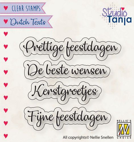 Clearstamps Nellie Snellen - Dutch Texts - prettige feestdagen