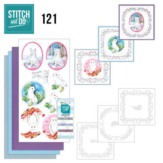 Stitch and Do Pakket 121 - winter friends