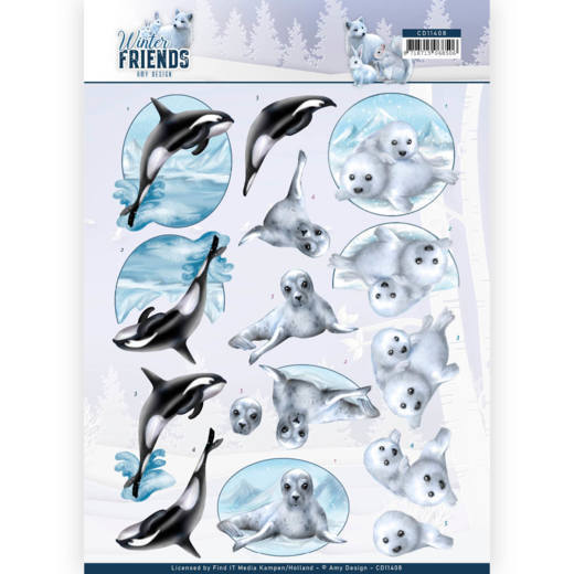 Knipvel Amy Design - Winter Friends CD11408
