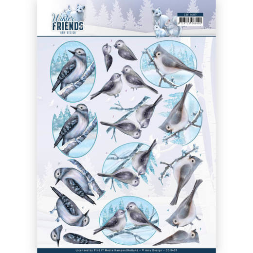 Knipvel Amy Design - Winter Friends CD11407