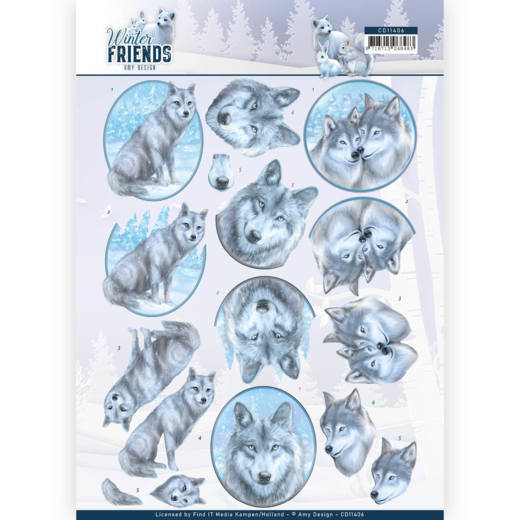 Knipvel Amy Design - Winter Friends CD11406