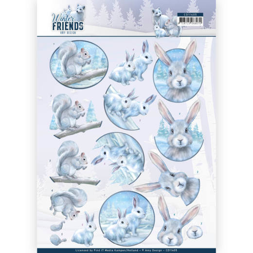 Knipvel Amy Design - Winter Friends CD11405