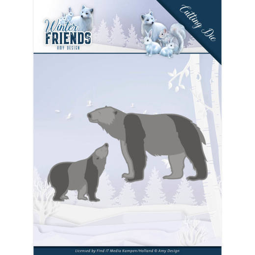 Amy Design Stans - Winter Friends - polar bears