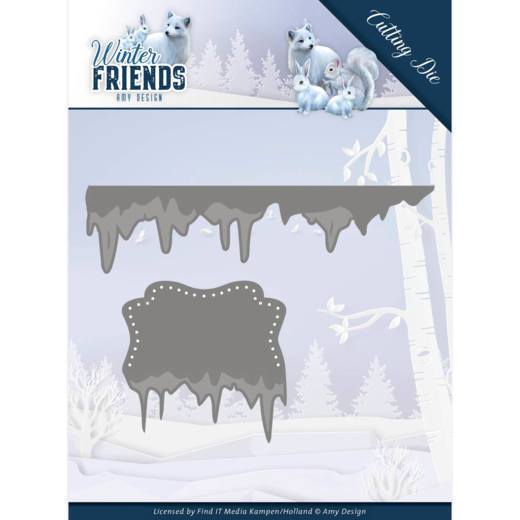 Amy Design Stans - Winter Friends - ice border