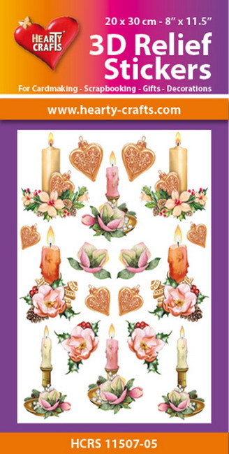 Hearty Crafts 3D Relief Stickers - X-mas candles