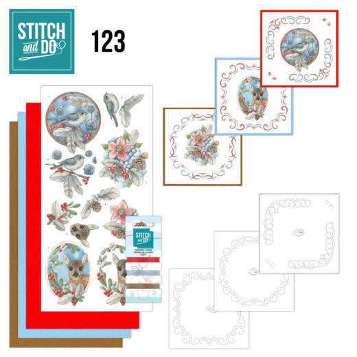 Stitch and Do Pakket 123 - berries and feathers