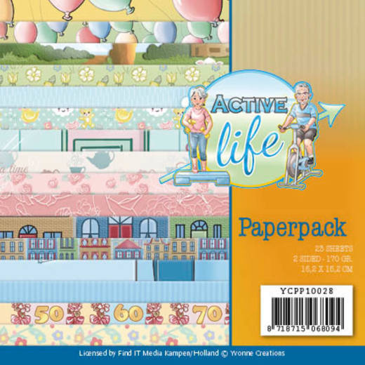 Paper Pack Yvonne Creations - Active Life