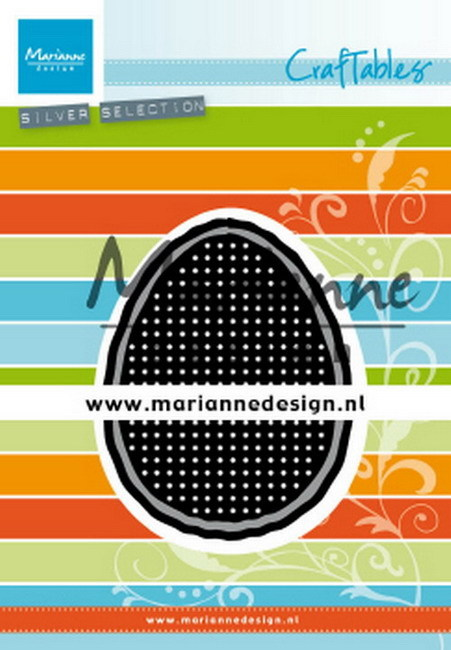 Craftables Marianne Design - cross stitch easter egg