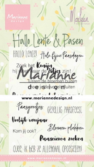Clearstamps Marianne Design - By Marleen - Hallo Lente & Pasen