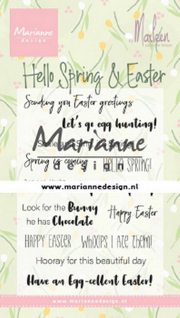 Clearstamps Marianne Design - By Marleen - Hello Spring & Easter