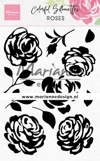 Clearstamps Marianne Design - Colorful Silhouettes - roses