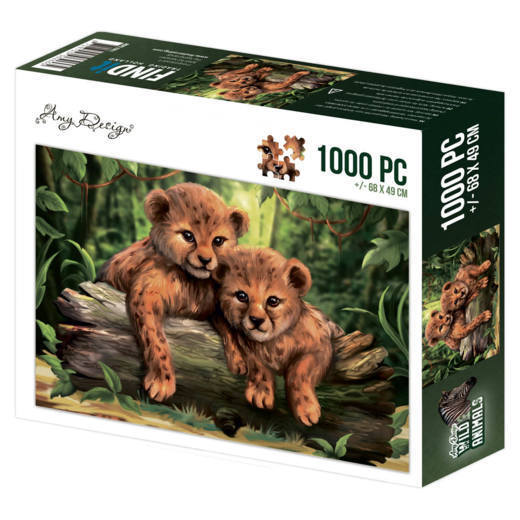 Puzzel Amy Design - Wild Animals - cubs