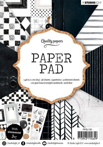 Paper Pad Studio Light A5 - black/white
