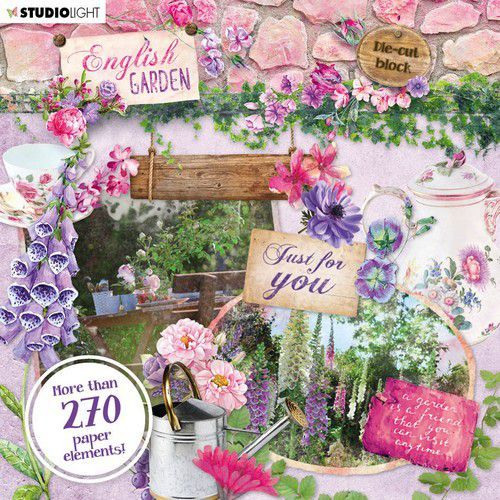 Studio Light Die Cut Block - English Garden