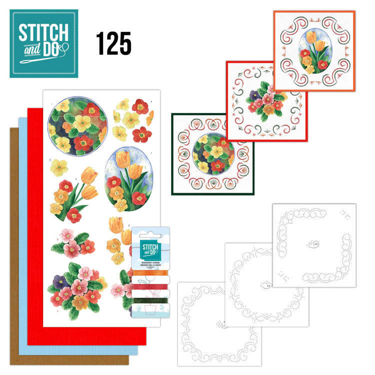 Stitch and Do Pakket 125 - spring flowers