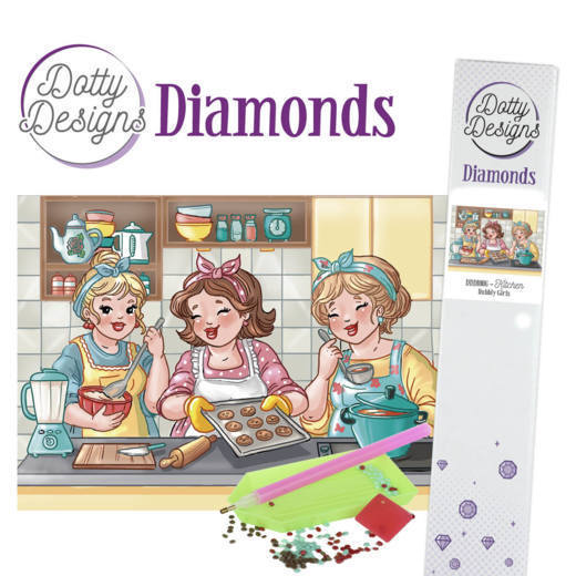 Dotty Designs Diamond Painting Pakket - Bubbly Girls - kitchen