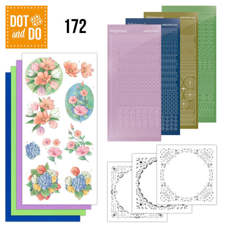Dot & Do Hobbydots Pakket - aquarel tulpen en meer