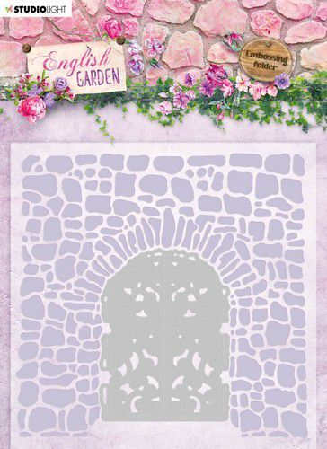Studio Light Embossing Folder met Stans - English Garden 03
