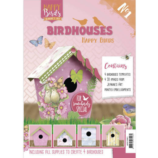 Boek Birdhouses - Jeanine's Art - Happy Birds