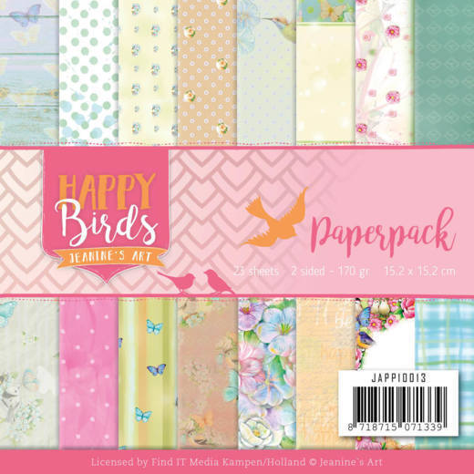 Paper Pack Jeanine's Art - Happy Birds