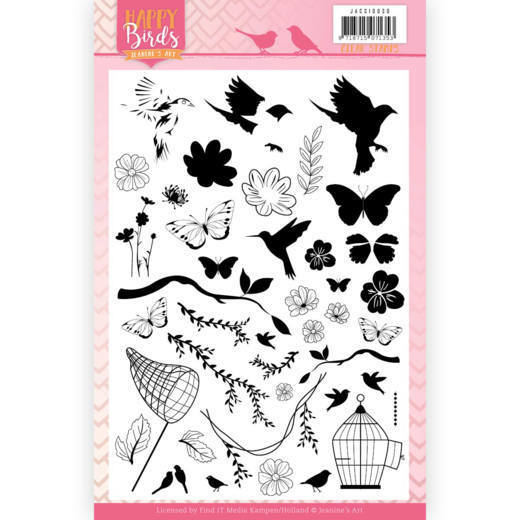 Clearstamps Jeanine's Art - Happy Birds