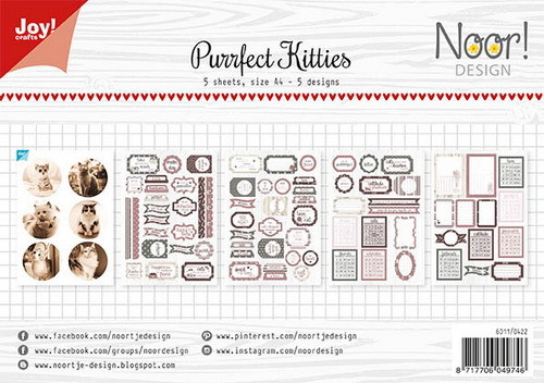 Joy Paper Pack - Label Sheets - Purrfect Kitties