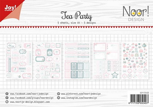 Joy Paper Pack - Label Sheets - Tea Party