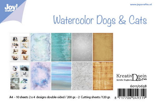 Joy Paper Pack - Watercolor Dogs & Cats