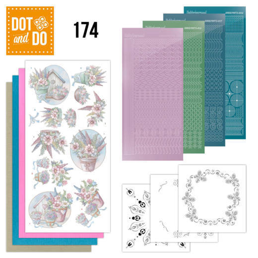 Dot & Do Hobbydots Pakket - flowers in pastel