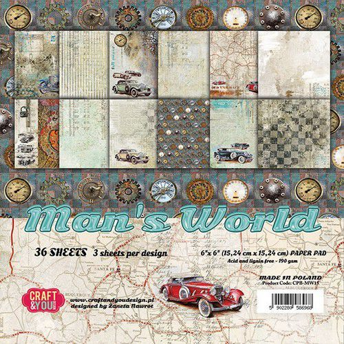 Paper Pad Craft & You - Man's World (6 x 6 inch)