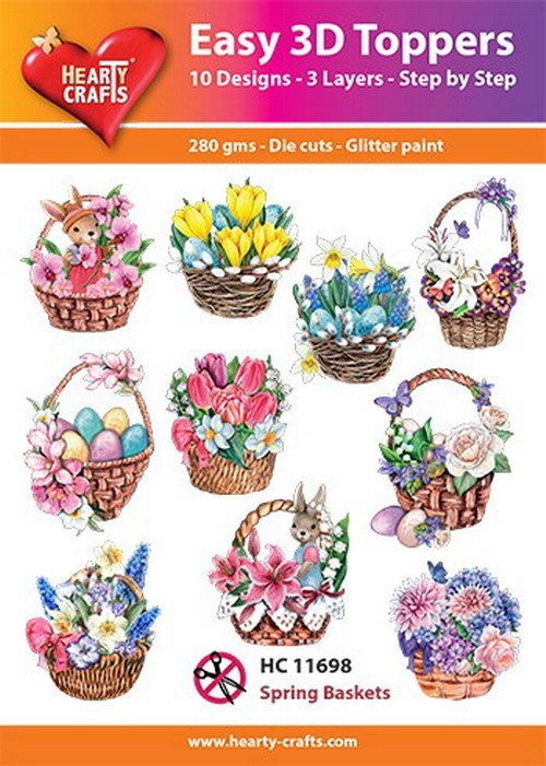 Easy 3D Toppers - spring baskets