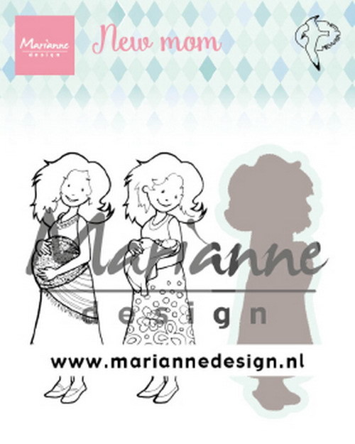 Marianne Design Clearstamps & Dies - new mom