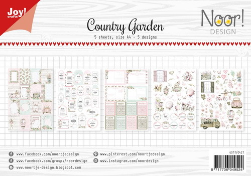 Joy Paper Pack - Label Sheets - country garden