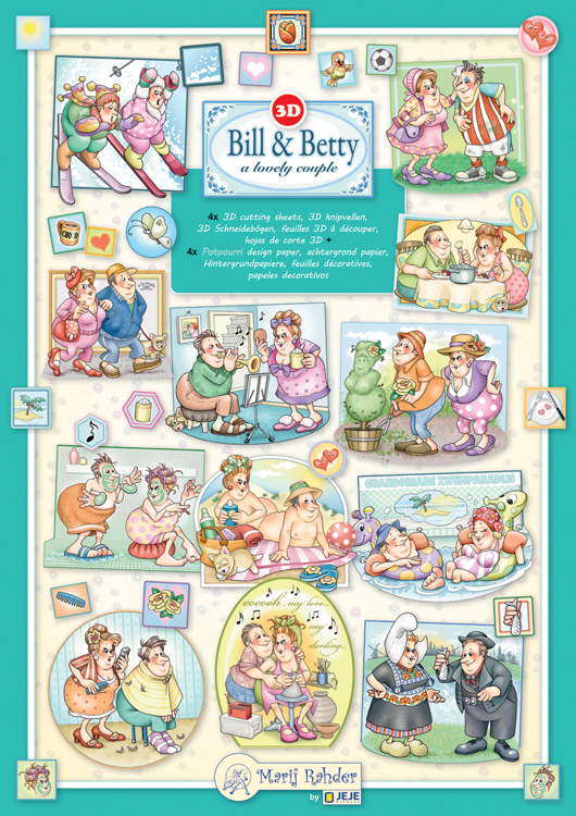 Marij Rahder 3D Boek - Bill & Betty