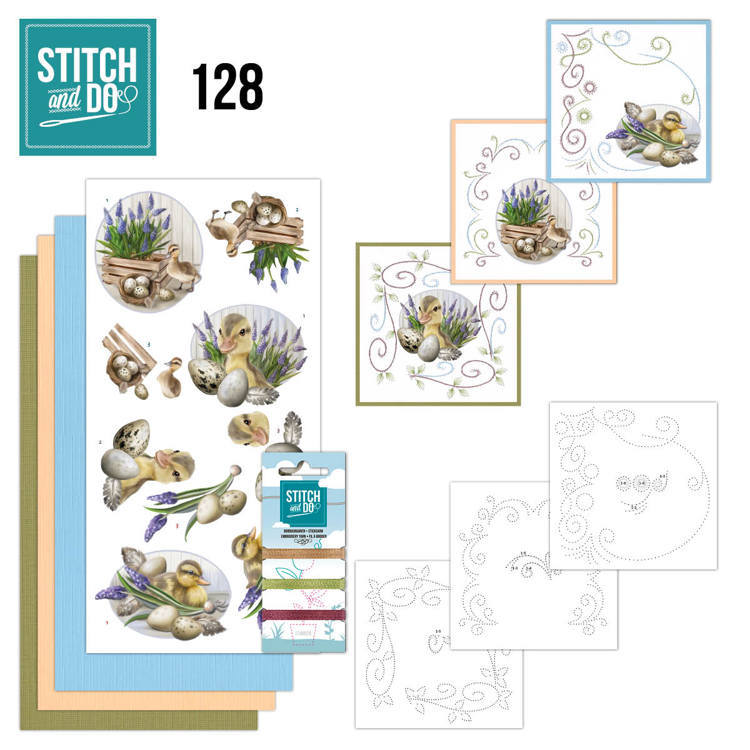 Stitch and Do Pakket 128 - botanical spring