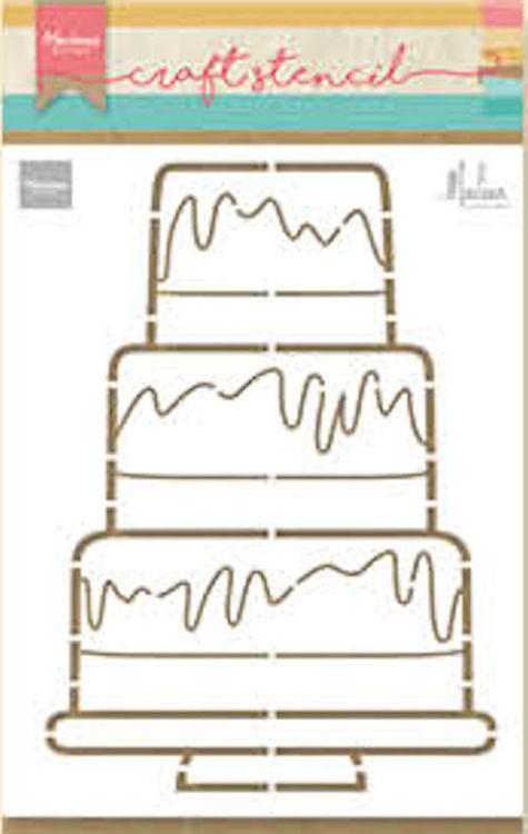 Marianne Design Craft Stencil - By Marleen - party cake
