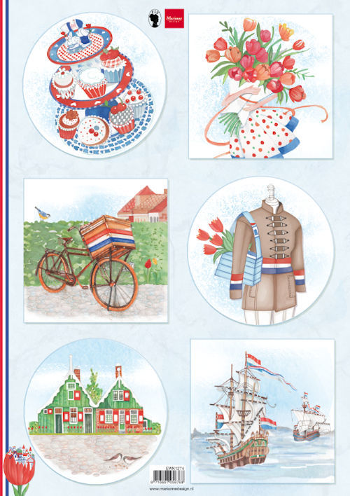 Knipvel Marianne Design - I Love Holland - bicycle