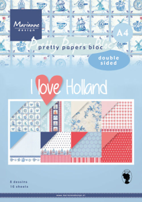 Pretty Papers Bloc - I Love Holland