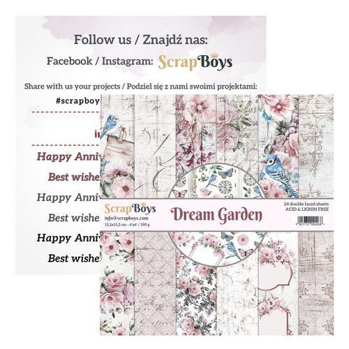 Paper Pad ScrapBoys - Dream Garden - 6 x 6 inch