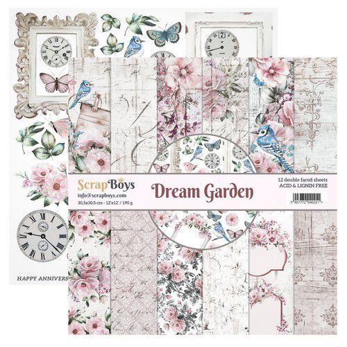 Paper Pad ScrapBoys - Dream Garden - 12 x 12 inch