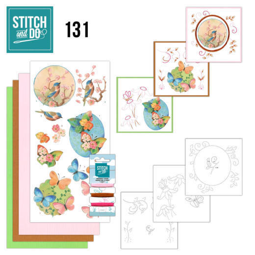 Stitch and Do Pakket 131 - birds and blossom