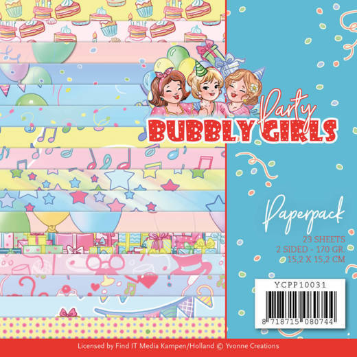 Paper Pack Yvonne Creations - Bubbly Girls - Party