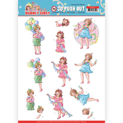 Stansvel Yvonne Creations - Bubbly Girls Party SB10441