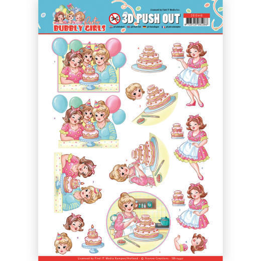 Stansvel Yvonne Creations - Bubbly Girls Party SB10440