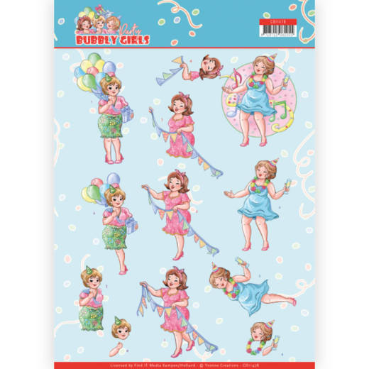Knipvel Yvonne Creations - Bubbly Girls Party CD11478