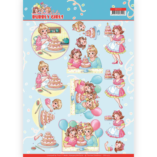 Knipvel Yvonne Creations - Bubbly Girls Party CD11477